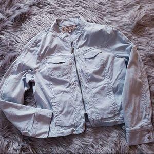 Cabi Full Zip Light Blue blazer jacket very cute